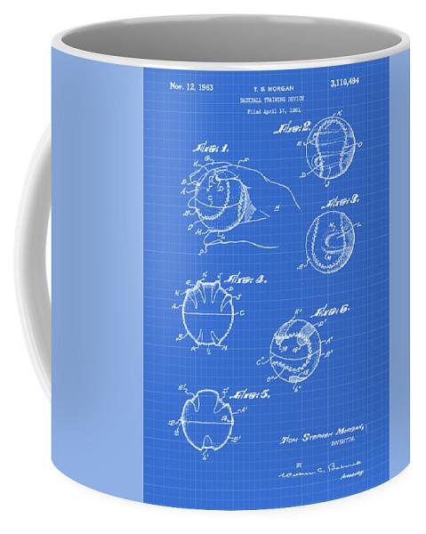 Baseball Coffee Mug featuring the photograph Baseball Training Device Patent 1961 Blueprint by Bill Cannon