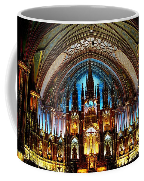 North America Coffee Mug featuring the photograph Notre - Dame Basilica - Montreal by Juergen Weiss