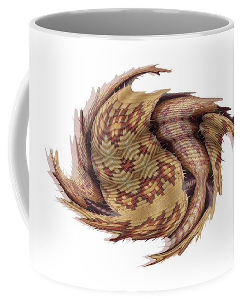 Basket Coffee Mug featuring the digital art Basket Entering Black Hole by Ron Bissett