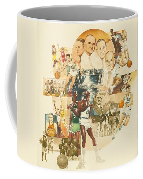 Don Langeneckert Coffee Mug featuring the painting Basketball by Don Langeneckert