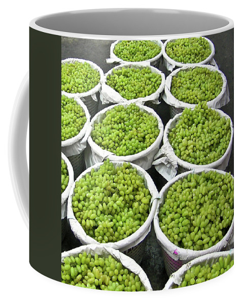 Thialand Coffee Mug featuring the photograph Baskets Of White Grapes by Douglas Barnett