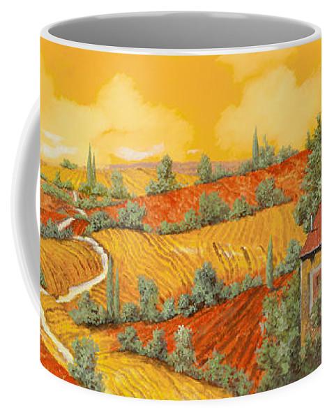 Tuscany Coffee Mug featuring the painting Maremma Toscana by Guido Borelli