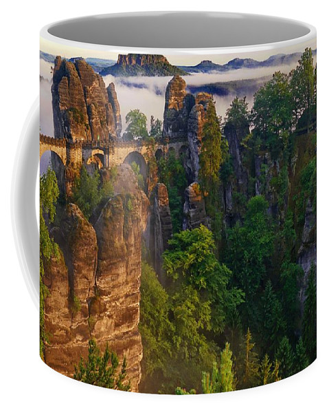 Bastei Coffee Mug featuring the photograph Bastei by Dawn Van Doorn