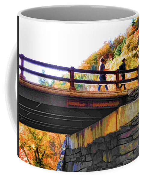 Bastion Falls Bridge Coffee Mug featuring the painting Bastion Falls Bridge 1 by Jeelan Clark