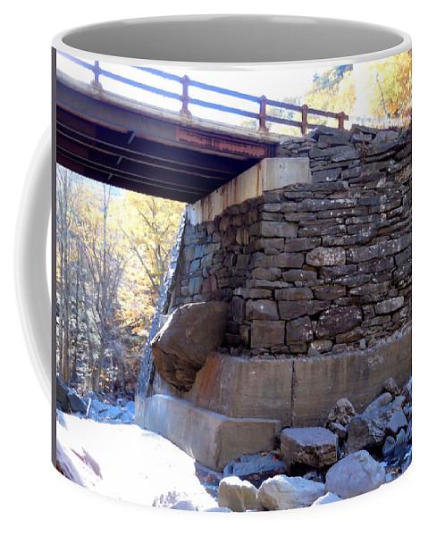 Bastion Falls Bridge Coffee Mug featuring the painting Bastion Falls Bridge 3 by Jeelan Clark