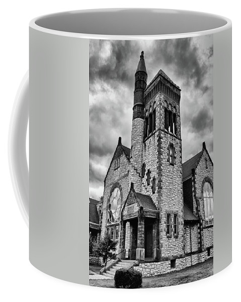 Batavia Ny Coffee Mug featuring the photograph Batavia Baptist Church 2161 by Guy Whiteley
