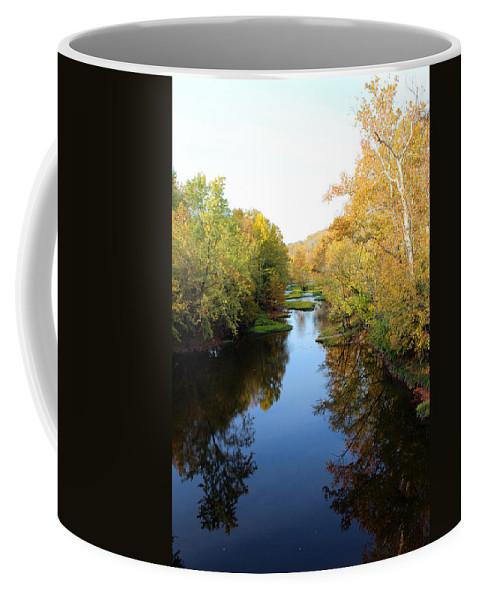 Landscape Coffee Mug featuring the photograph Batavia, Ohio Creek - Other Side Vertical by Lorraine Baum