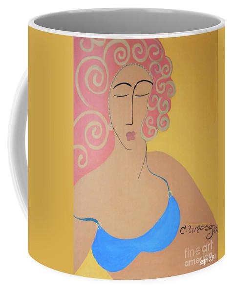 #female Coffee Mug featuring the painting Bathing Beauty by Jacquelinemari