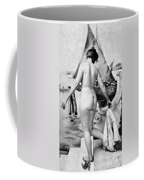 1902 Coffee Mug featuring the photograph Bathing Nude, 1902 by Granger