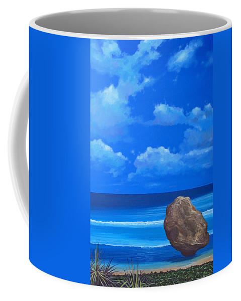 Barbados Coffee Mug featuring the painting Bathsheba by Hunter Jay