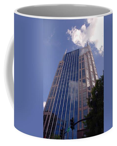 Att House Coffee Mug featuring the photograph Batman Building In Down Town Nashville by Susanne Van Hulst