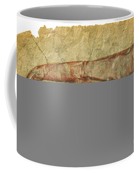 Grunge Coffee Mug featuring the photograph Battered Old Trumpet by Michal Boubin