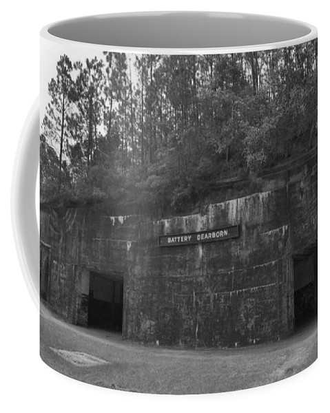 Military Coffee Mug featuring the photograph Battery Dearborn by Richard Rizzo
