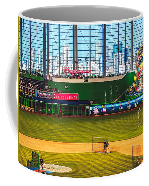 Marlins Park Coffee Mug featuring the photograph Batting Practice by Pixabay