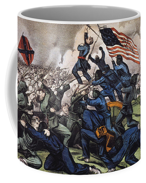 1863 Coffee Mug featuring the photograph Battle Of Fort Wagner, 1863 by Granger