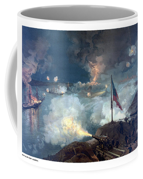 Civil War Coffee Mug featuring the painting Battle Of Port Hudson by War Is Hell Store