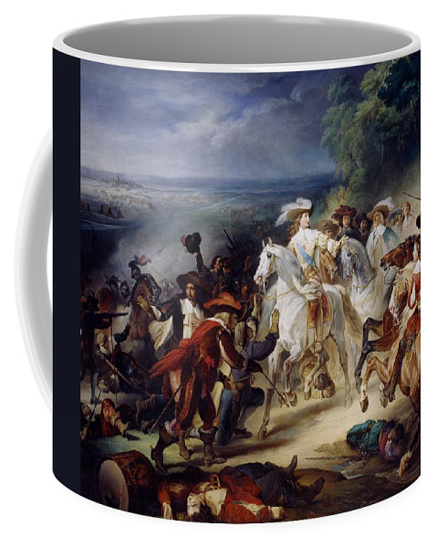 Battle Coffee Mug featuring the painting Battle Of Rocroy by Francois Joseph Heim