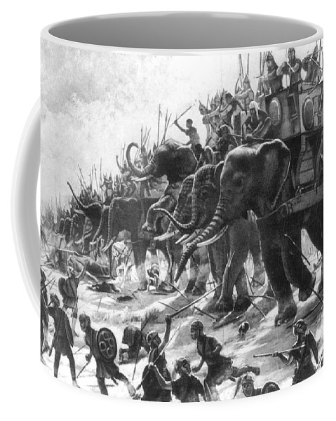 History Coffee Mug featuring the photograph Battle Of Zama, Hannibals Defeat by Photo Researchers