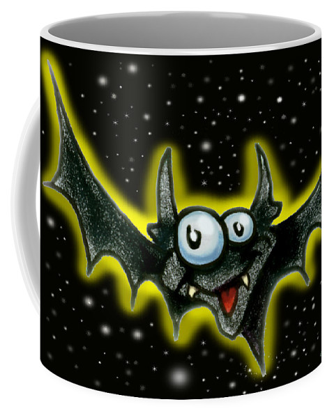 Bat Coffee Mug featuring the greeting card Batty by Kevin Middleton