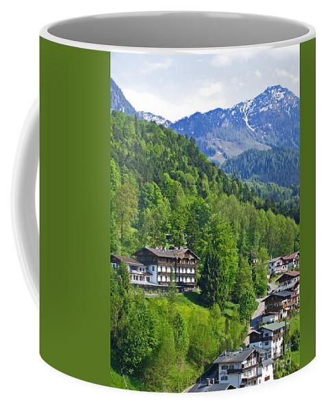 Germany Coffee Mug featuring the photograph Bavarian Mountainside by Ann Horn