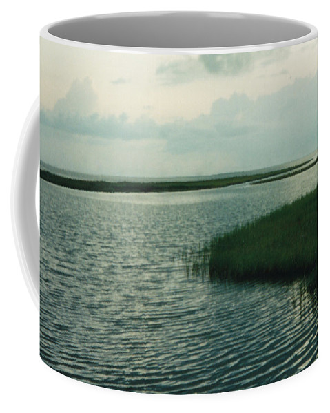 Bay Coffee Mug featuring the photograph Bay And Marsh 1 by Cindy New