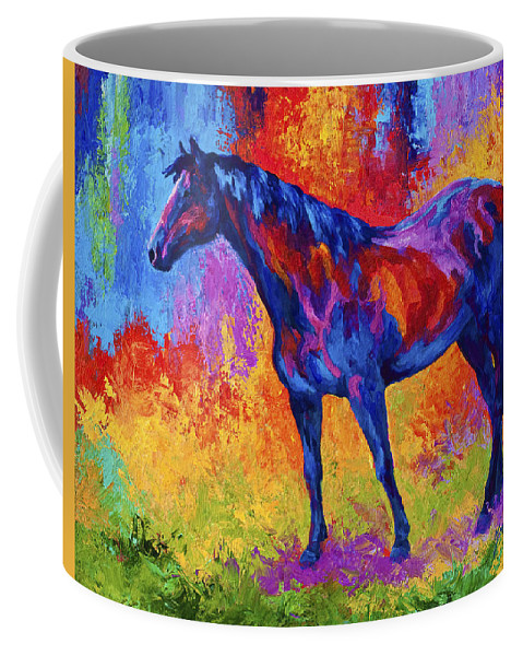 Horses Coffee Mug featuring the painting Bay Mare II by Marion Rose