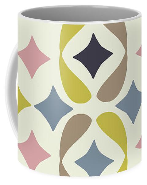 Fucshia Coffee Mug featuring the digital art Baya Cirque by Ceil Diskin
