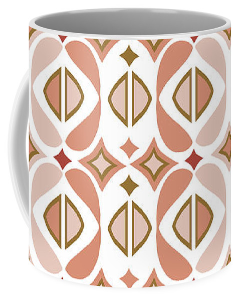 Peach Coffee Mug featuring the digital art Baya Melba by Ceil Diskin