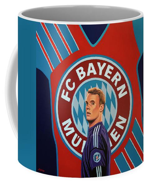Bayern Munich Coffee Mug featuring the painting Bayern Munchen Painting by Paul Meijering