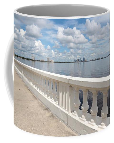 Bayshore Blvd Coffee Mug featuring the photograph Bayshore Boulevard Balustrade by Carol Groenen
