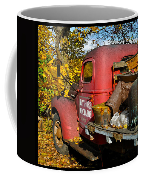 Truck Coffee Mug featuring the photograph Bayshore Orchards by Tim Nyberg