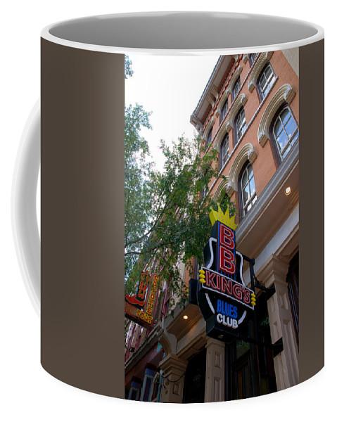 Bb King Coffee Mug featuring the photograph Bb King Bar Nashville by Susanne Van Hulst