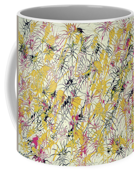 Keith Elliott Coffee Mug featuring the painting Bumble Bees Against The Windshield - V1cs65 by Keith Elliott
