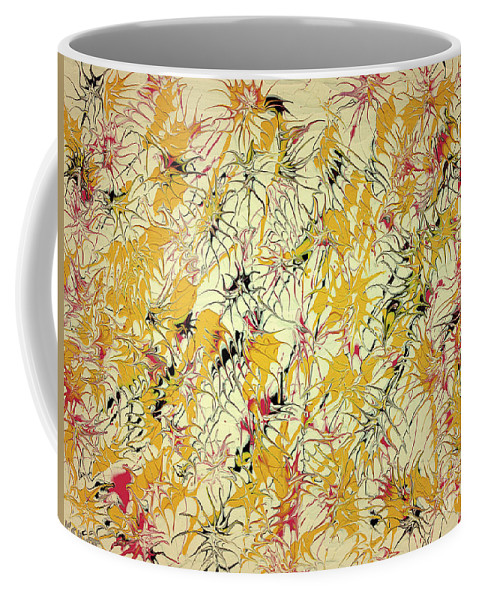 Keith Elliott Coffee Mug featuring the painting Bumble Bees Against The Windshield - V1ls75 by Keith Elliott