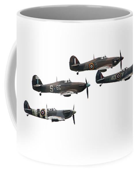 Supermarine Coffee Mug featuring the digital art Bbmf Flight - High Key by J Biggadike