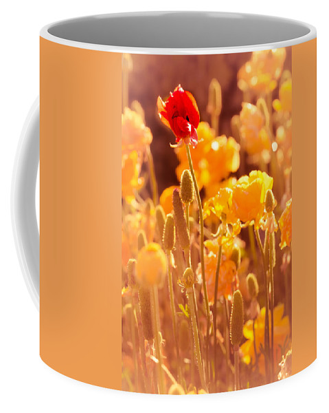 Flowers Coffee Mug featuring the photograph Be Different Be Good by Mark Perelmuter