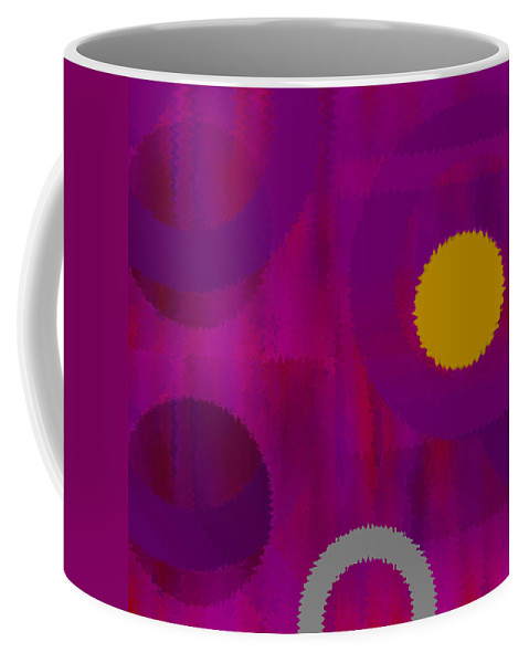 Abstract Coffee Mug featuring the digital art Be Happy II by Ruth Palmer