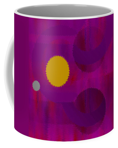 Abstract Coffee Mug featuring the digital art Be Happy by Ruth Palmer