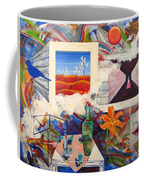 Landscape Coffee Mug featuring the painting Be Here Now by Rollin Kocsis