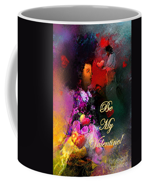 Love Coffee Mug featuring the painting Be My Valentine by Miki De Goodaboom