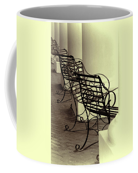 Chairs Coffee Mug featuring the photograph Be Seated by Mitch Spence