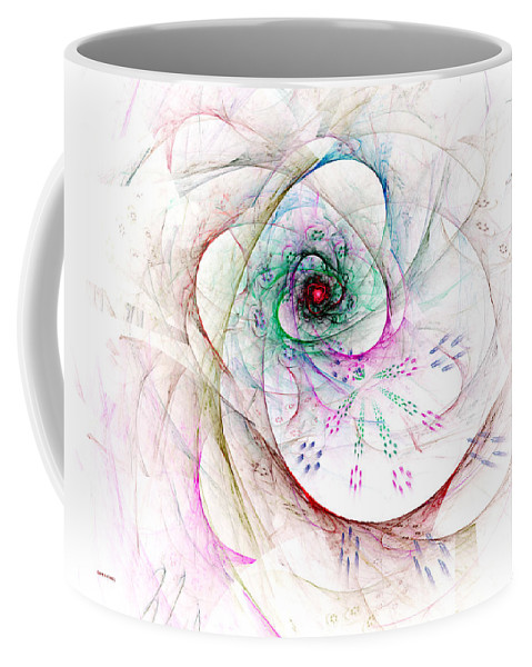 Abstract Coffee Mug featuring the digital art Be Strong Little Flower by Claire Bull