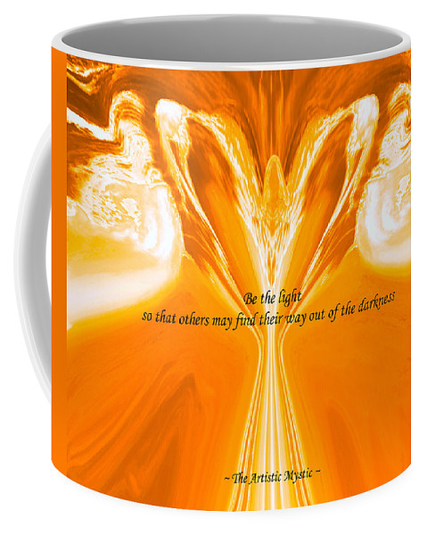 Be The Light Coffee Mug featuring the digital art Be The Light - Josea Golden by Artistic Mystic