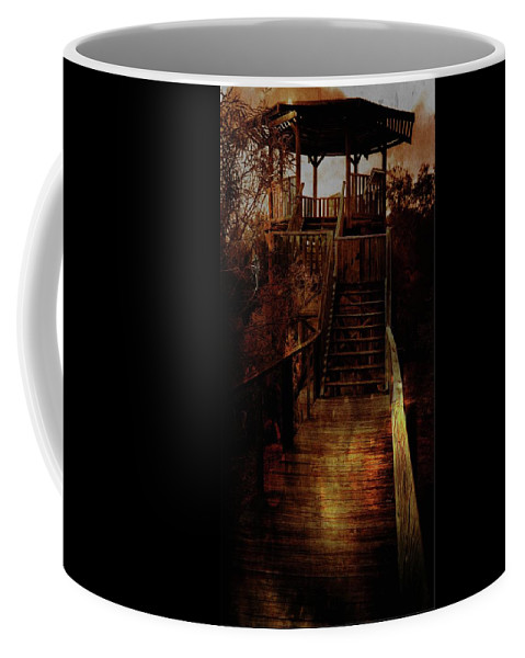 Be There By Sundown Coffee Mug featuring the photograph Be There By Sundown by Carolyn Parker