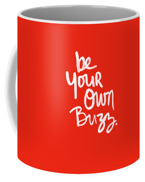 Stripes Coffee Mug featuring the painting Be Your Own Buzz by Linda Woods