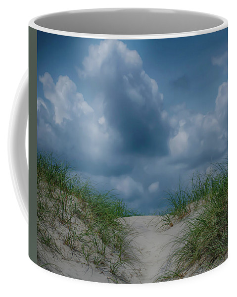Color Coffee Mug featuring the photograph Beach Access by Joy Watson