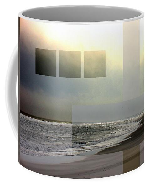 Beach Coffee Mug featuring the photograph Beach Collage 2 by Steve Karol
