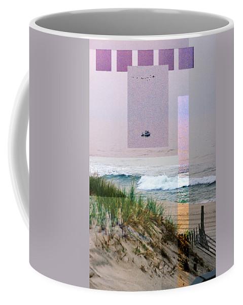 Landscape Coffee Mug featuring the digital art Beach Collage 3 by Steve Karol