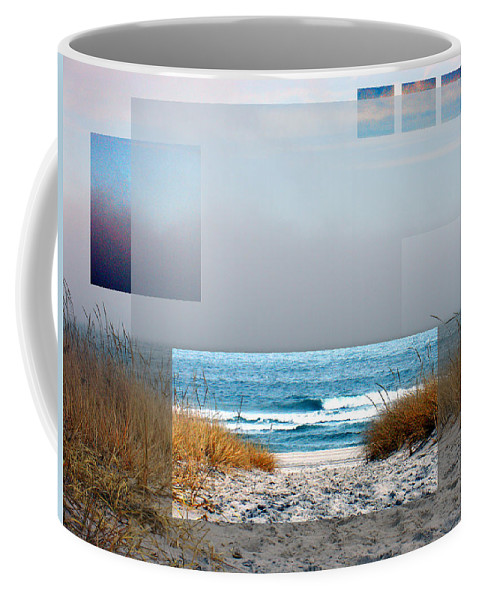 Beach Coffee Mug featuring the photograph Beach Collage by Steve Karol