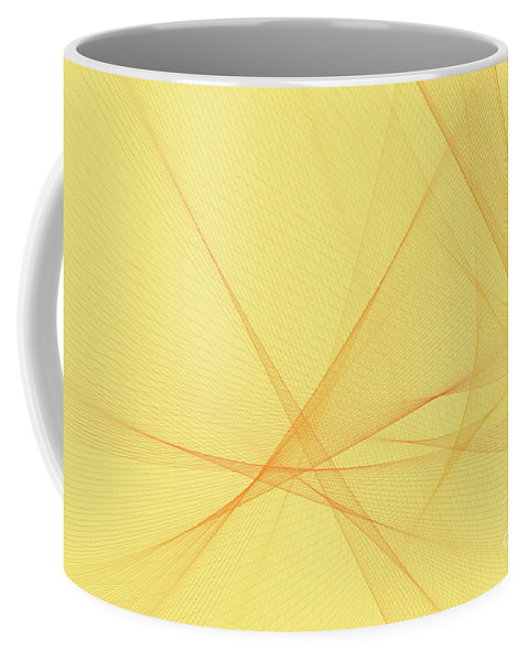 Abstract Coffee Mug featuring the digital art Beach Computer Graphic Line Pattern by Frank Ramspott
